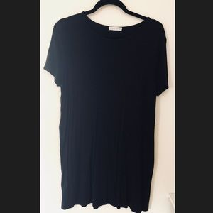 Socialite Black T-shirt Dress